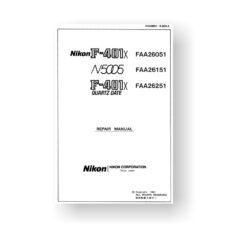 138-page PDF 7 MB download for the Nikon N5005 Repair Manual Parts List | Film Cameras