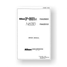 111-page PDF 4.5 MB download for the Nikon N6000 Repair Manual Parts List | Film Cameras