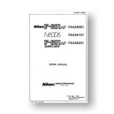180-page PDF 4.5 MB download for the Nikon N6006 Repair Manual Parts List | Film Cameras