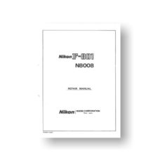 259-page PDF 9.86 MB download for the Nikon N8008 Repair Manual Parts List | Film Cameras