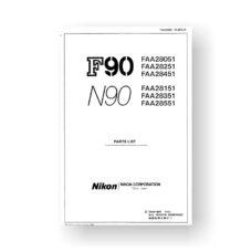Nikon N90 Repair Manual Parts List Download