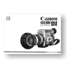 Canon 1014 Electronic Owners Manual Download (1014-OM)