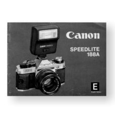Canon Speedlite 188A Owners Manual Download (188OM)