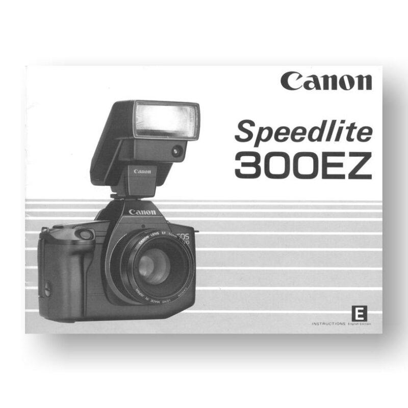Canon Speedlite 300EZ Owners Manual Download