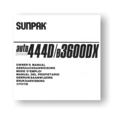 Sunpak Auto 444D B3600DX Flash Unit Owners Manual Download