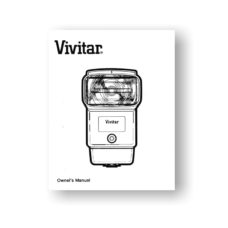 Vivitar 5200 Flash Unit Owners Manual Download
