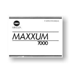 Minolta Maxxum 7000 Owners Manual Download
