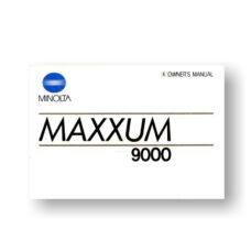Minolta Maxxum 9000 Owners Manual Download