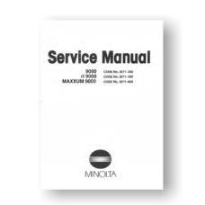Minolta 2071 Service Manual Parts List | Maxxum 9000