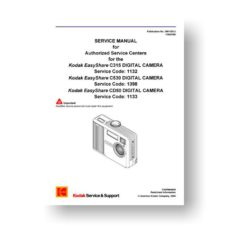 Kodak Easyshare C315 C530 CD50 Service Manual Parts List Download