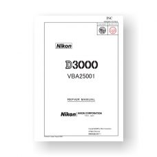 Nikon D3000 Repair Parts Download