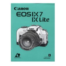 Canon EOS IX7 IX Lite Owners Manual Download