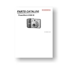22-page PDF 3.82 MB download for the Canon A1000-IS Parts Catalog | Powershot
