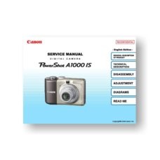138 page PDF 17.77 MB download for the Canon A1000-IS Service Manual | Powershot