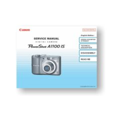 89-page PDF 7.15 MB download for the Canon A1100-IS Service Manual Parts Catalog