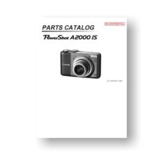 Canon PowerShot A2000 IS Parts List Download
