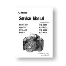 Canon EOS A2 A2E Service Manual Parts List Download