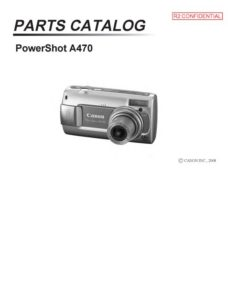 23-page PDF 1.67 MB download for the Canon A470 Parts Catalog | Powershot Digital