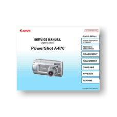 140-page PDF 10.7 MB download for the Canon A470 Service Manual Parts Catalog | Powershot Digital