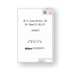 Nikon JAA80251 Parts List Download | AF-S ED 24-70 2.8 G IF