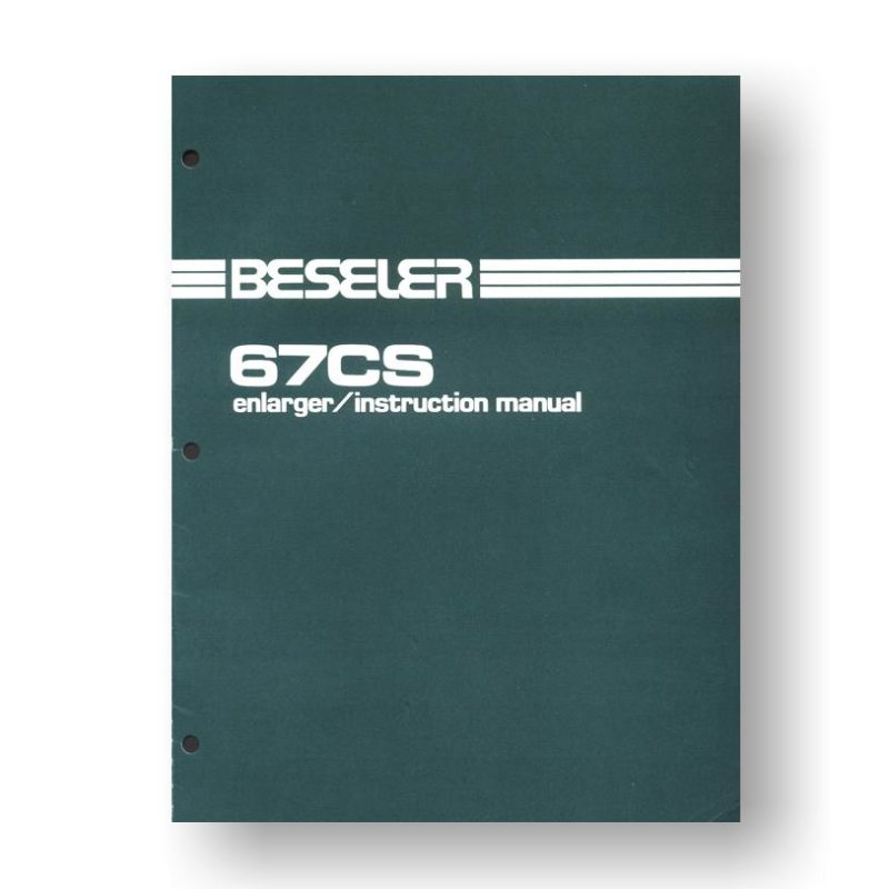 Beseler 67S-CS Enlarger Owners Manual Download