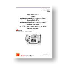 Kodak SM8784-1 Service Manual | Easyshare C300 | C310 | CD40
