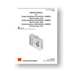 Kodak SM1132-2 Service Manual | Easyshare C315 C530 CD50