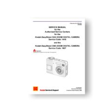 Kodak C503 C533 Service Manual Download Kodak Digital Cameras