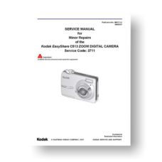 Kodak Easyshare C513 Service Manual Parts List Download