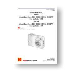 Kodak SM1399 Service Manual | Easyshare C603 | C643
