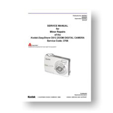 Kodak Easyshare C613 Service Manual Parts List Download