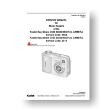 Kodak Easyshare C623 C653 Service Manual Parts List Download
