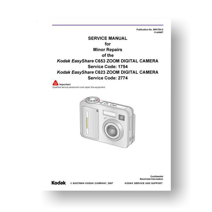 kodak easyshare c623 c653 service manual parts list downloaduscamera rh uscamera com  manual for kodak easyshare c653