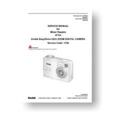 Kodak C633 Service Manual | Easyshare C633