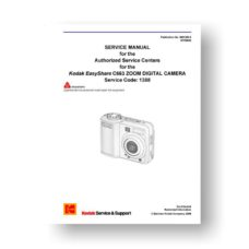 Kodak C663 Service Manual Parts List | Easyshare C663