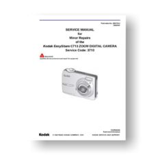 Kodak C713 Service Manual Parts List | Easyshare C713