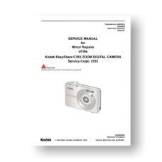 Kodak C763 Service Manual Parts List | Easyshare C763