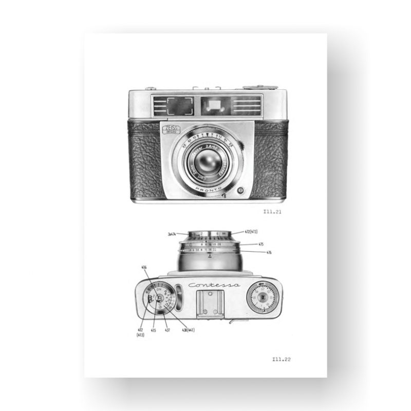 57-page PDF 3.20 MB download for the Zeiss Contessa-Matic Service Manual Part Lists | Vintage SLR