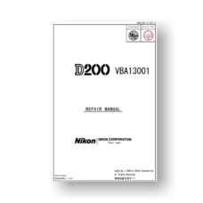 Nikon D200 Service Manual Parts List Download