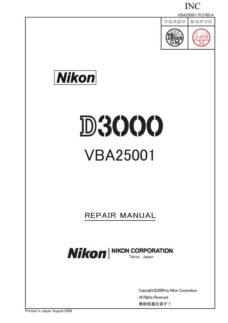 Nikon D3000 Service Manual Parts List Download (D3000-SMPL)