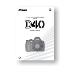 Nikon D40 Owners Manual Download