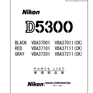 Nikon D5300 Parts List Download (D5300-PL)