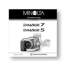 Minolta Dimage 5 Dimage 7 Owners Manual Download