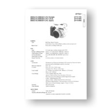 Minolta Dimage 5 Service Manual Parts List Download