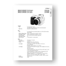 Minolta 2779 Service Manual Parts List | Dimage 7i