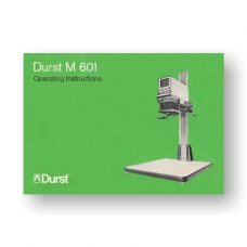 Durst M601 Owners Manual