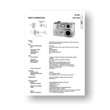 Minolta 2774 Service Manual Parts List | Dimage E203