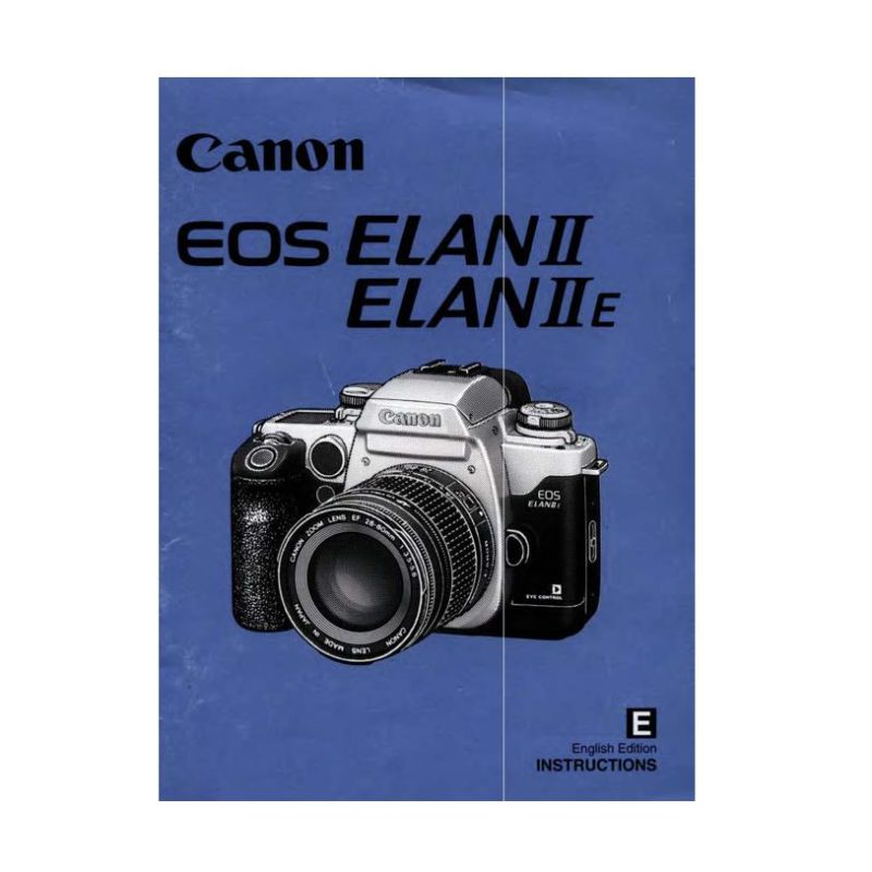 Canon EOS Elan II Elan IIE Owners Manual Download (