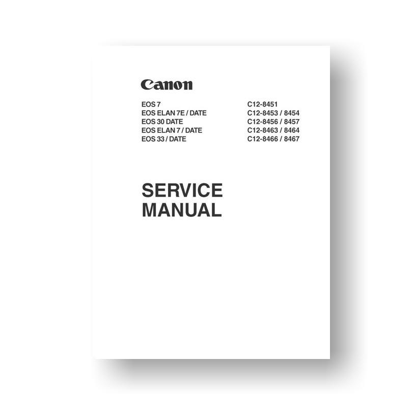 Canon EOS Elan 7 EOS Elan 7E Service Manual Parts List Download
