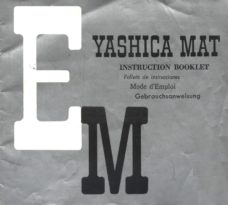 Yashica MAT EM Owners Manual Download